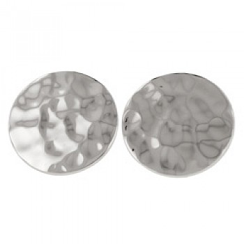 Hammered Disc Studs - 19mm Wide