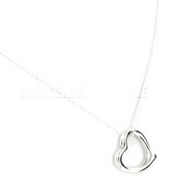 Smoothed Heart Silver Pendant - 20mm