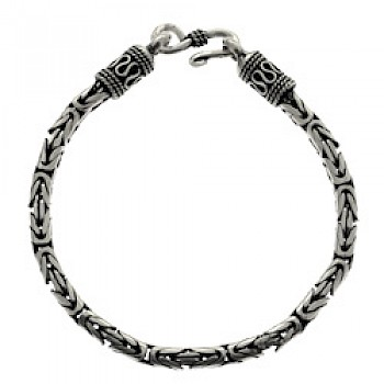 "24"" (61cms) Thai Chain Silver Necklace - 4mm Wide"