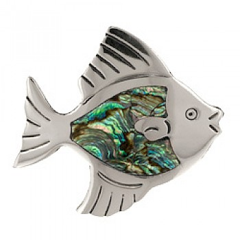 Abalone Shell Fish Brooch