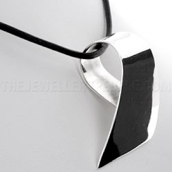 Abstract Curve Silver Pendant