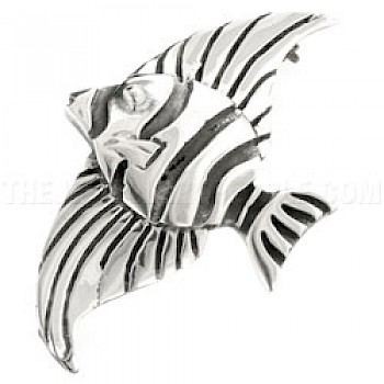 Angelfish Silver Brooch - 55mm Long