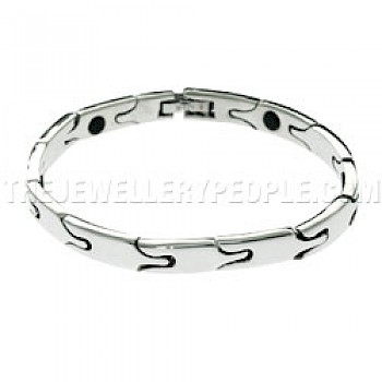 Arrow Magnetic Silver Bracelet