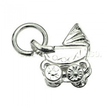 Baby Buggy Silver Charm