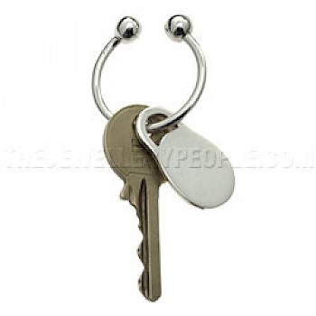 Oval Silver Key Ring