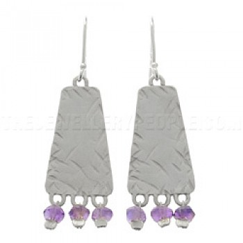 Amethyst Bead & Silver Earrings