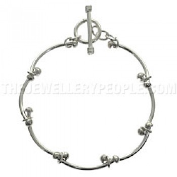 Bar Links Silver Bracelet - Light