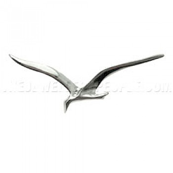 Bird Silver Brooch - 55mm Wide