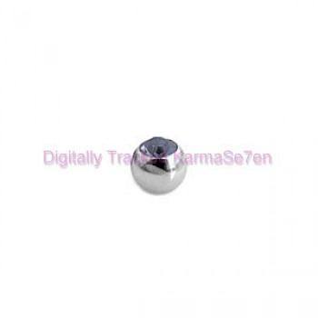 Black Jewelled Surgical Steel Threaded Micro Ball (1.2mm x 3mm)