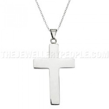 Boxed Solid Silver Cross Pendant