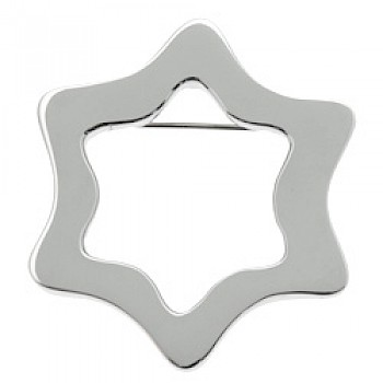 Boxed Star Silver Brooch - 60mm Large