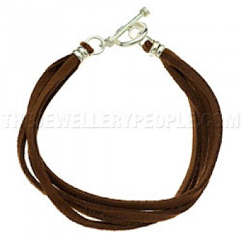 Brown Suede Bracelet - Four Strands