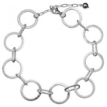 Brushed Silver Circles Bracelet