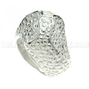Bubble Rock Silver Ring