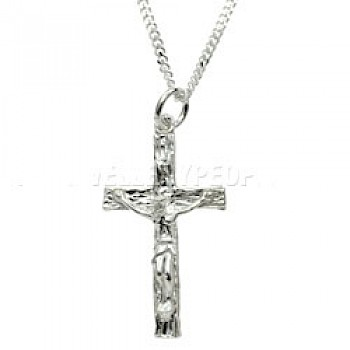 Christ Cross Silver Pendant - Small