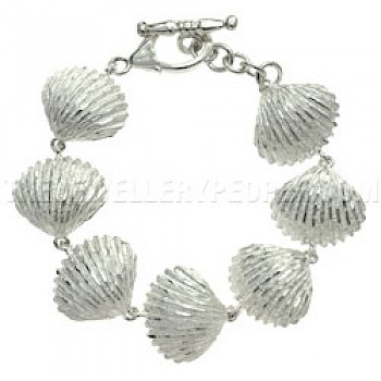 Clam Shell Silver Bracelet - 20mm Wide