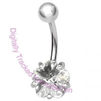Clear Flower Belly Bar
