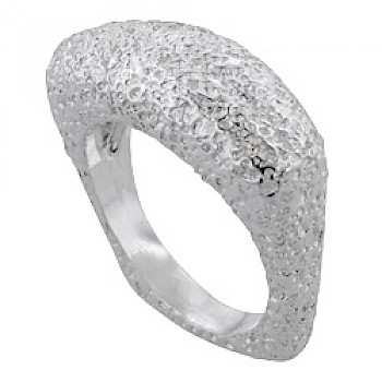 Clustered Effect Square Silver Ring
