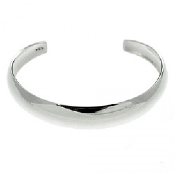 Convex Open Silver Childs Bangle