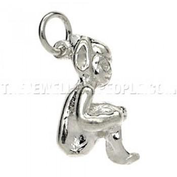 Cornish Pixie Silver Charm - Large
