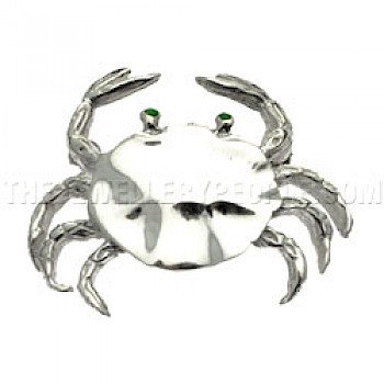 Crab Silver Brooch - 35mm Wide