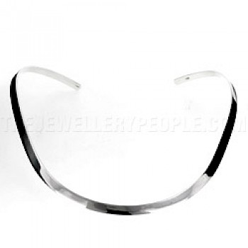 Curved Plain Silver Collar - 5mm Wide