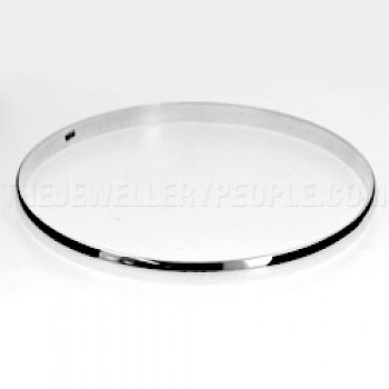 Curved-top Bangle 60mm Internal diameter - 4mm Solid