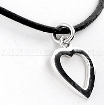 Cut Out Heart Silver Pendant