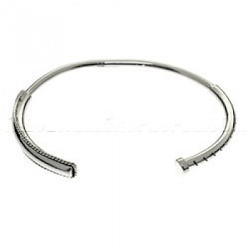 Detailed Silver Whip Bangle