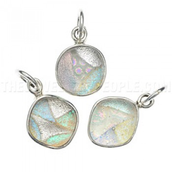 Dichroic Glass & Silver Pendant - Random Sizes