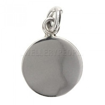 Disc Engravable Silver Charm - 15mm