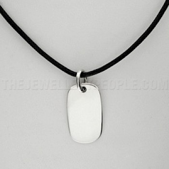 Dog-Tag Silver Pendant