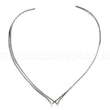 Double Twist Silver Collar