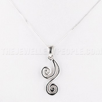 Duo Spiral Silver Pendant