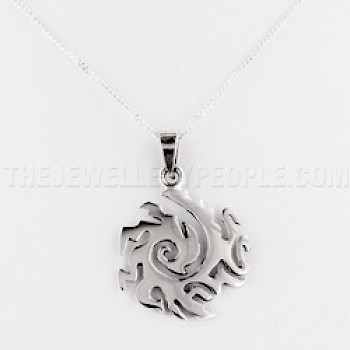 Eastern Spiral Silver Pendant