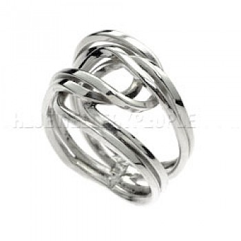 Entwined Loops Silver Ring