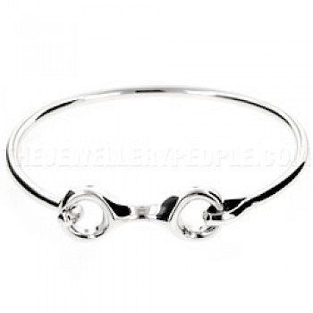 Figure 8 Catch Snaffle Silver Bangle - 3mm Solid Wire