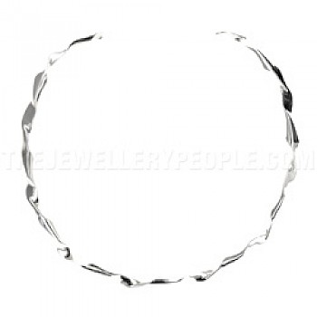 Folded Silver Collar - 7mm Solid