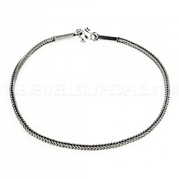 Foxtail Chain Silver Anklet