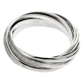 Glitter Silver Russian Wedding Ring - 7 Bands