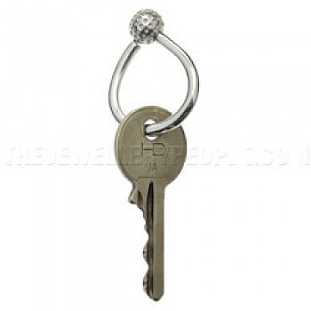 Golf Ball Silver Key Fob