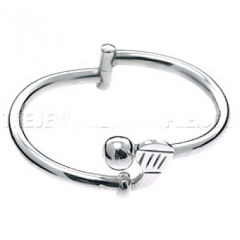 Golf Club Silver Bangle