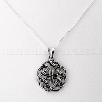 Groove Celtic Knot Silver Pendant