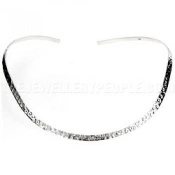Hammered Silver Collar - 5mm Solid