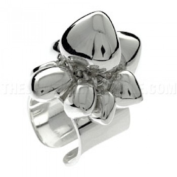 Heart Bunch Silver Ring