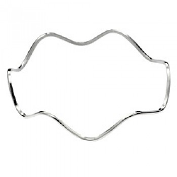 High Wave Silver Bangle - 1.8mm Solid