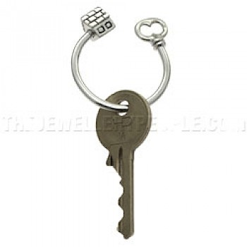 House Silver Key Ring