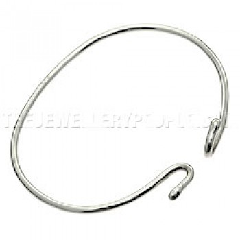 Knotted Silver Childs' Bangle