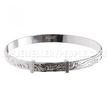Leaves Silver Bangle - Childs