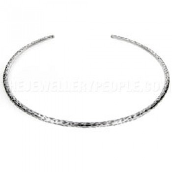 Leopard Silver Collar - 5mm